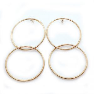 Kenneth Jay Lane Double-Drop Entwined-Hoop Earrings