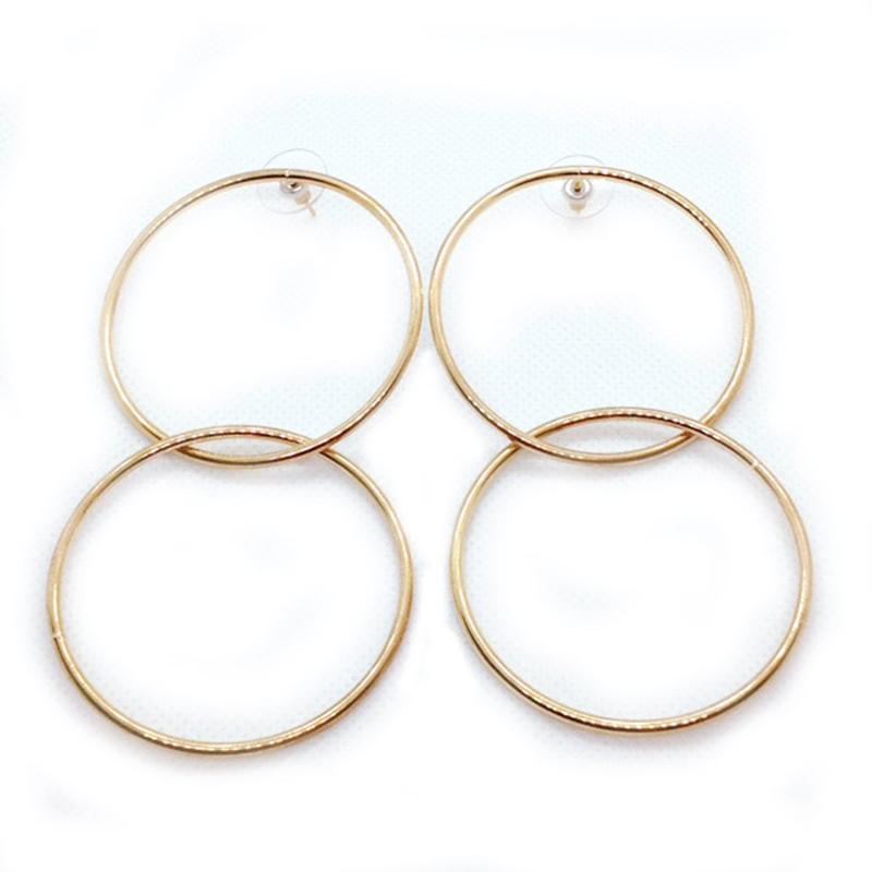KJL Double-Drop Entwined-Hoop Earrings