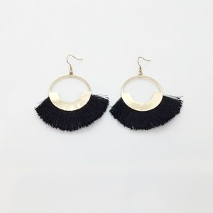 Kenneth Jay Lane Fringe Tipped Drop Earrings
