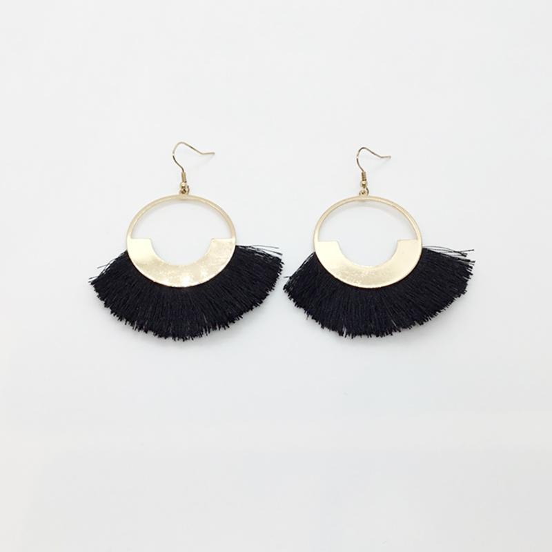 KJL Fringe Tipped Drop Earrings