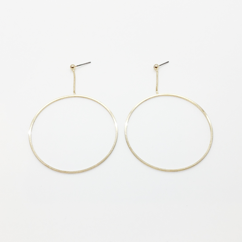 KJL Open Circle Drop Earrings