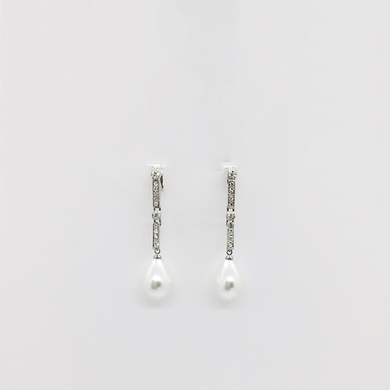 KJL Pear Pearl Earrings