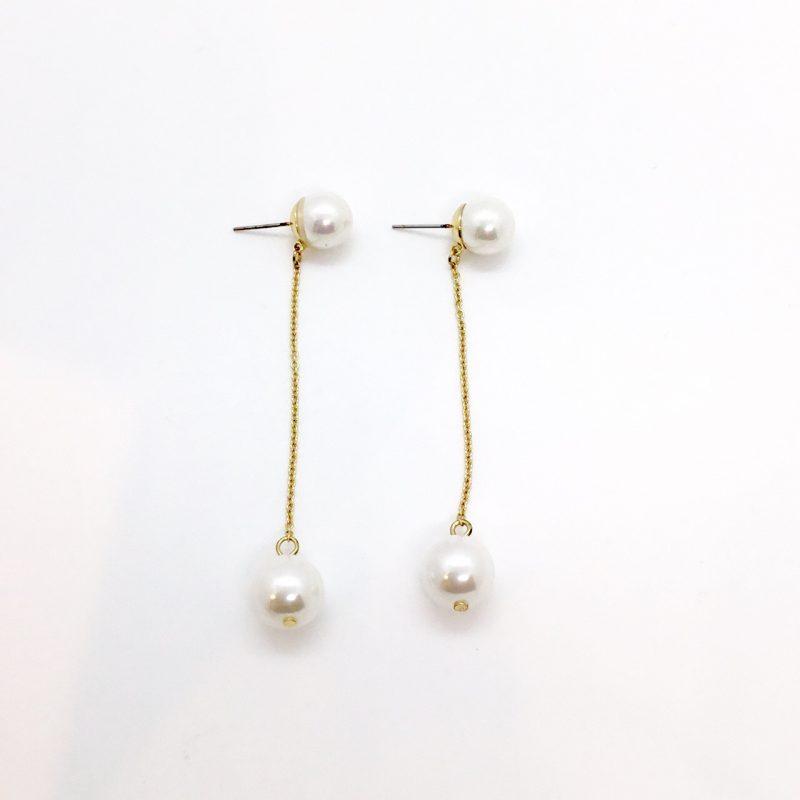KJL Pearl Drop Earrings