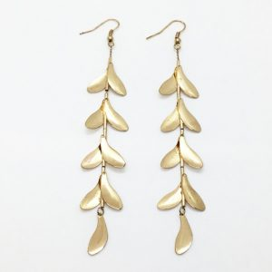 Kenneth Jay Lane(ケネスジェイレーン) Satin Leaf Drop Earrings