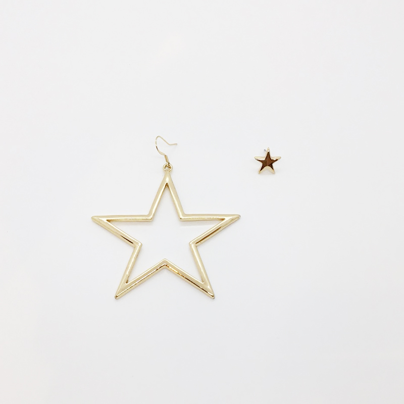 KJL Mismached Star-Shaped Earrings