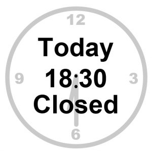 today 18:30 closed