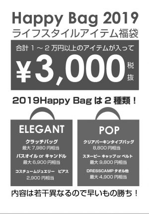 2019 HAPPY BAG 福袋