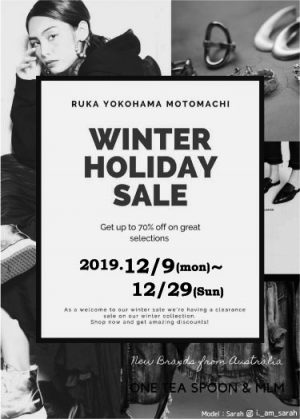 2019/12/09(mon) WINTER SALE START!