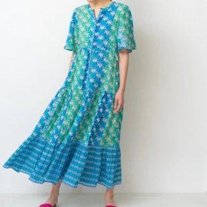 Sara Mallika FLOWER PRINT GATHER DRESS